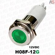 چراغ سیگنال قطر8 LED وضوح بالا 12ولتDC سبز H08F-12G