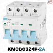 کلید مینیاتوری چهار پل 2آمپر تیپ موتوری کاکن KMCBC024P-2A